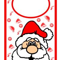 Printable Santa Door Hanger - Printable Fun - Free Printable Activities