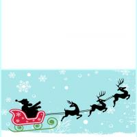 Printable Santa Flying in His Sleigh - Printable Christmas Cards - Free Printable Cards