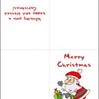 Printable Santa in a Bike - Printable Christmas Cards - Free Printable Cards