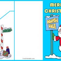 Printable Santa at the North Pole Money Card - Printable Christmas Cards - Free Printable Cards