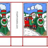 Printable Santa on a Train Treat Bag - Printable Fun - Free Printable Activities