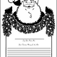 Printable Santa Open House Guest Book - Printable Paper - Misc Printables