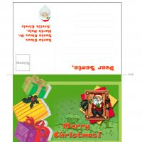 Printable Santa Postcard - Printable Stationary - Free Printable Activities