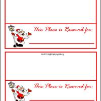 Printable Santa Singing Place Card - Printable Place Cards - Free Printable Cards