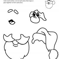 Printable Santa Template - Printable Templates - Free Printable Activities