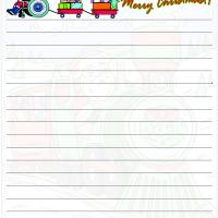 Printable Santa Train Paper - Printable Stationary - Free Printable Activities