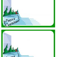 Printable Santa Walking in the Snow Postcards - Printable Christmas Cards - Free Printable Cards