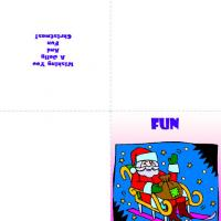 Printable Santa With Gift Sack - Printable Christmas Cards - Free Printable Cards