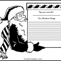 Printable Santa's Box Guest Book Page - Printable Paper - Misc Printables