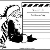 Santa's Box Guest Book Page