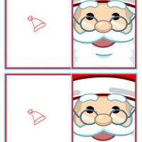 Santa's Face Mini Cards