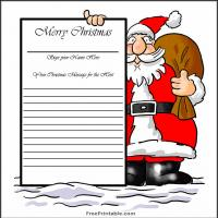 Santa's Guest Book Page