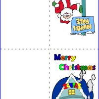 Printable Santa's House - Printable Christmas Cards - Free Printable Cards