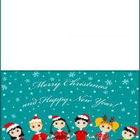 Printable Santa's Kids - Printable Christmas Cards - Free Printable Cards
