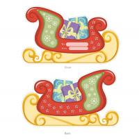 Santa's Sleigh and Gift Card Holder