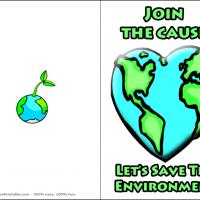 Printable Save The Environment - Printable Greeting Cards - Free Printable Cards
