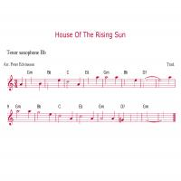 Printable Saxophone - House Of The Rising Sun - Printable Saxophone Music - Free Printable Music