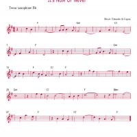 Printable Saxophone - It's Now Or Never - Printable Saxophone Music - Free Printable Music