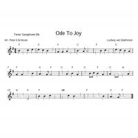 Printable Saxophone - Ode To Joy - Printable Saxophone Music - Free Printable Music