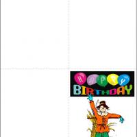 Printable Scarecrow Birthday Card - Printable Birthday Cards - Free Printable Cards