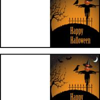 Printable Scarecrow Halloween - Printable Greeting Cards - Free Printable Cards