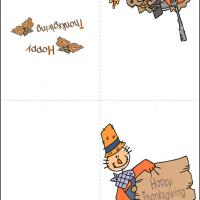 Printable Scarecrow Thanksgiving Card - Printable Greeting Cards - Free Printable Cards