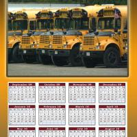 Printable School Bus 2009-2010 Calendar - Printable Calandars - Free Printable Calendars