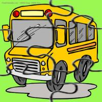 Printable School Bus Puzzle - Printable Puzzles - Free Printable Games