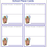 Printable School Place Cards - Printable Place Cards - Free Printable Cards