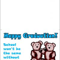 Printable School Won't Be The Same - Printable Graduation Cards - Free Printable Cards