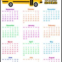 Printable School Year 2011-2012 Calendar - Printable Yearly Calendar - Free Printable Calendars