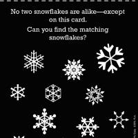 Printable Science: Snowflake Matching - Printable Preschool Worksheets - Free Printable Worksheets