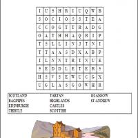 Printable Scotland Word Search - Printable Word Search - Free Printable Games