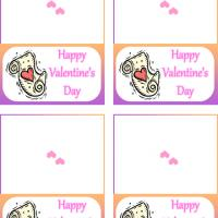 Printable Scroll with Pink Heart Gift Cards - Printable Valentines - Free Printable Cards