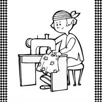 Seamstress Flash Card