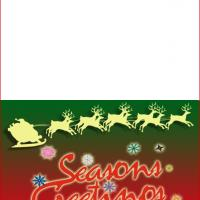 Printable Season's Greetings Card - Printable Christmas Cards - Free Printable Cards