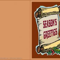 Printable Season's Greetings Scroll - Printable Christmas Cards - Free Printable Cards