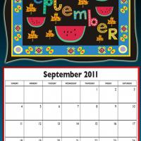 Printable September 2011 Colorful Designed Calendar - Printable Monthly Calendars - Free Printable Calendars