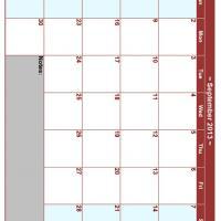 September 2013 Planner Calendar