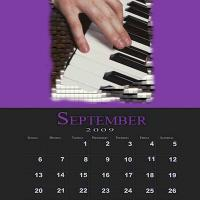 Printable September Music Theme Calendar - Printable Calendar Pages - Free Printable Calendars