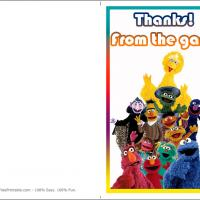 Printable Sesame Street Thank You Card - Printable Thank You Cards - Free Printable Cards