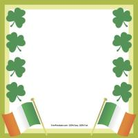 Printable Shamrock Border Notepad - Printable Stationary - Free Printable Activities