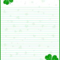Printable Shamrock Luck Sprinkles - Printable Stationary - Free Printable Activities