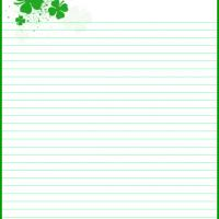 Printable Shamrock Stationery - Printable Stationary - Free Printable Activities