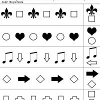 Printable Shapes 1-2 Pattern - Free Printable Math Worksheets - Free Printable Worksheets