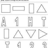 Shapes, Numbers & Letters Grouping