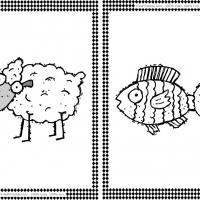 Sheep and Fish Flash Cards