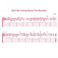 Printable She'll Be Coming Round The Mountain Guitar Music - Printable Guitar Music - Free Printable Music