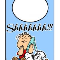 Shhh Snoopy and Charlie Brown Sleeping Door Hanger