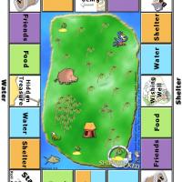 Printable Shipwrecked Board Game - Printable Board Games - Free Printable Games